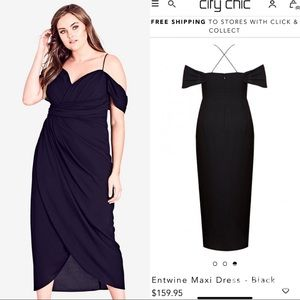 Selling for a friend City Chic black dress M18